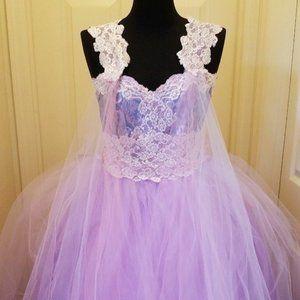 """MARY"" Lavender Wedding Ballgown Set"